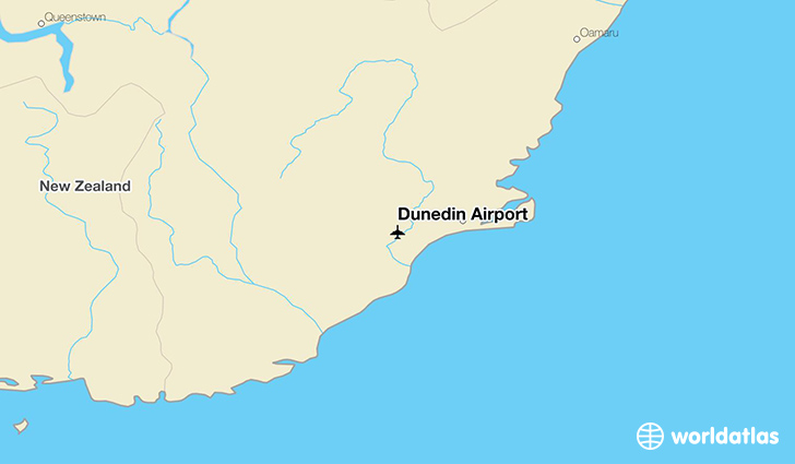Dunedin Airport location on a map
