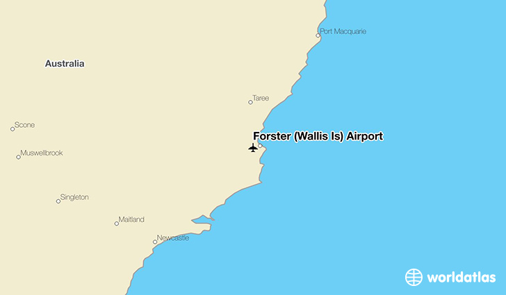 Forster (Wallis Is) Airport location on a map