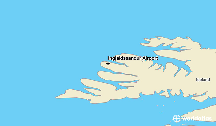 Ingjaldssandur Airport location on a map