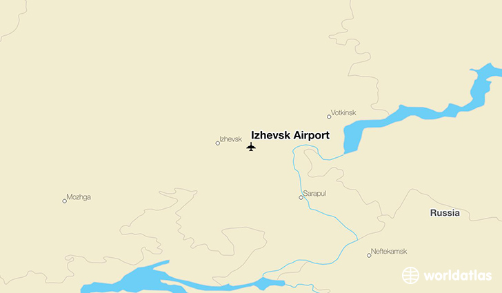 Izhevsk Airport location on a map