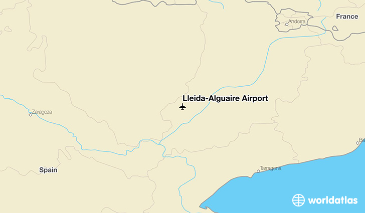 Lleida-Alguaire Airport location on a map