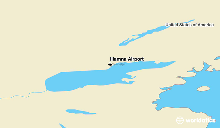 Iliamna Airport location on a map