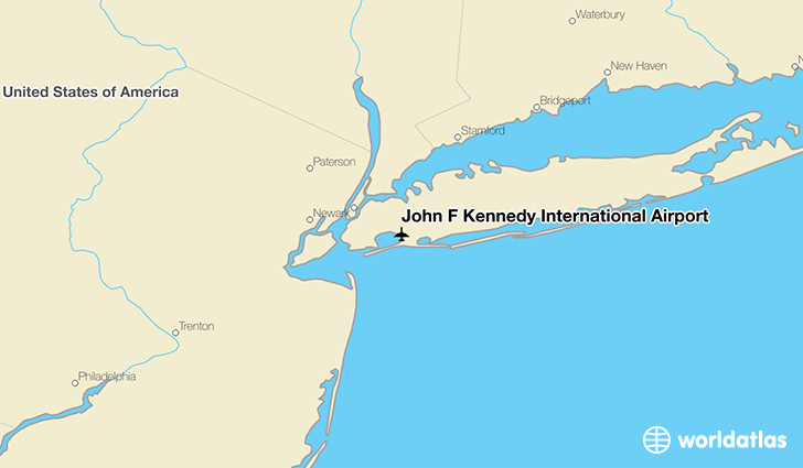 John F Kennedy International Airport location on a map