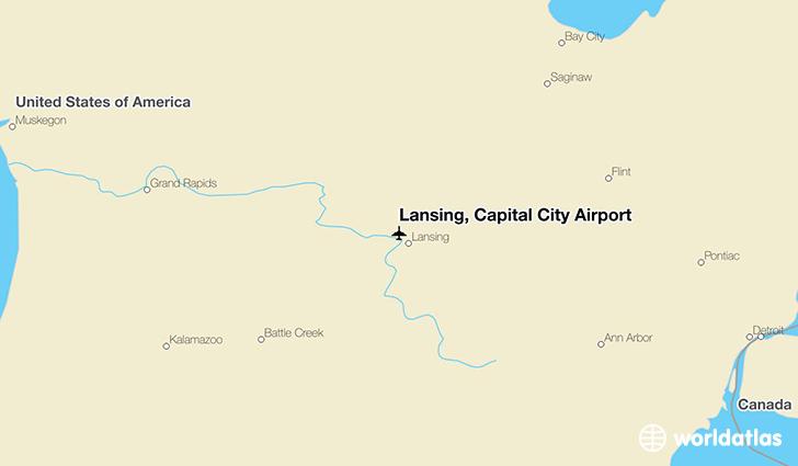 Lansing Capital City Airport LAN WorldAtlas