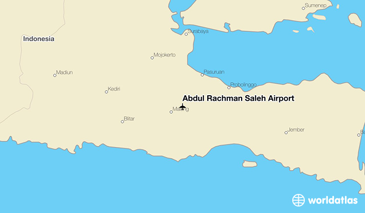 Abdul Rachman Saleh Airport location on a map