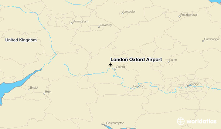 London Oxford Airport location on a map