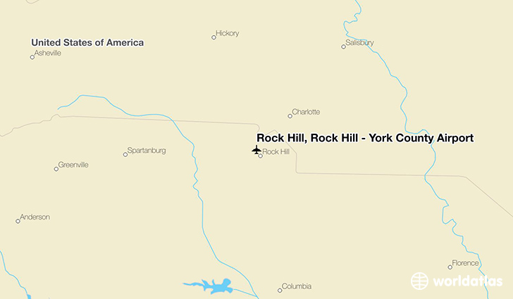 Rock Hill, Rock Hill - York County Airport location on a map