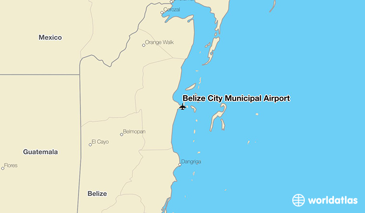 Belize City Municipal Airport location on a map
