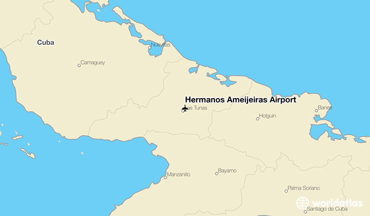 Hermanos Ameijeiras Airport location on a map