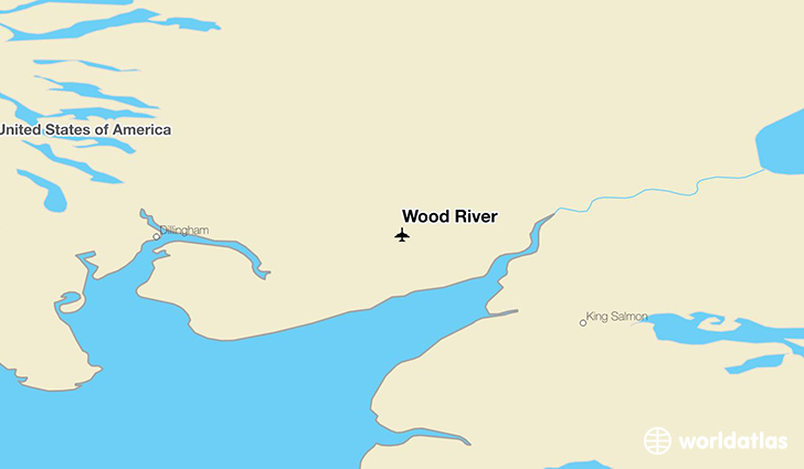 Wood River location on a map