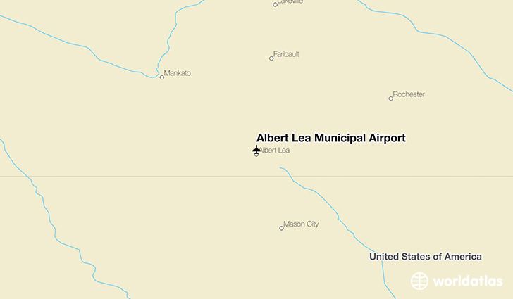 Albert Lea Municipal Airport location on a map