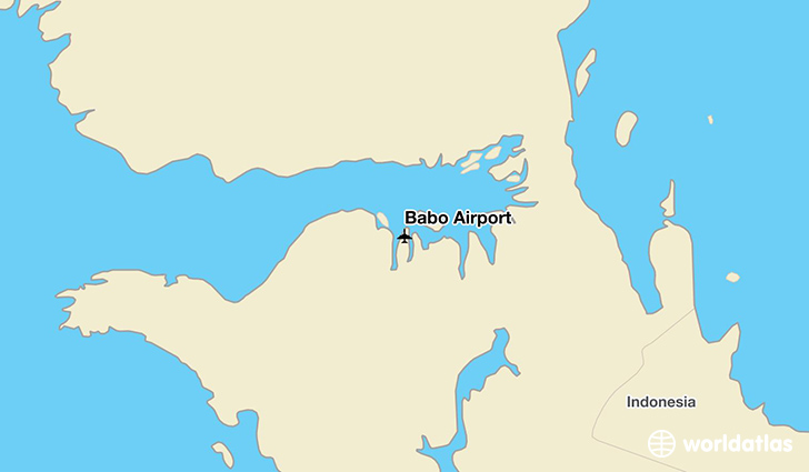 Babo Airport location on a map