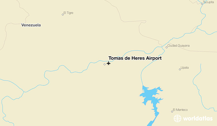 Tomás de Heres Airport location on a map