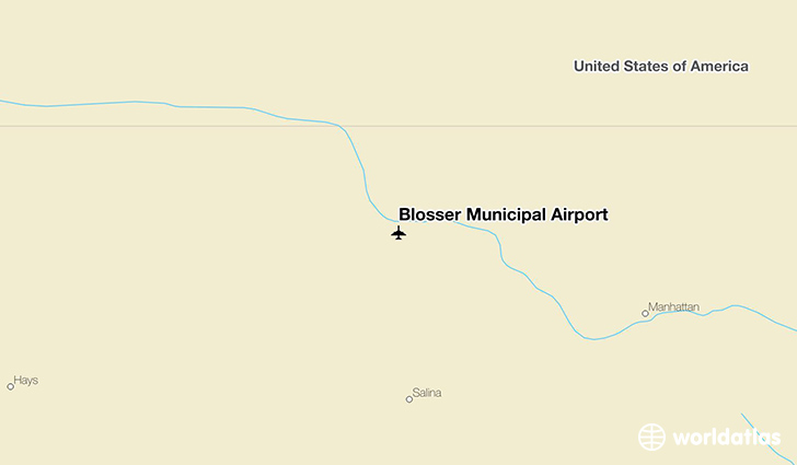 Blosser Municipal Airport location on a map