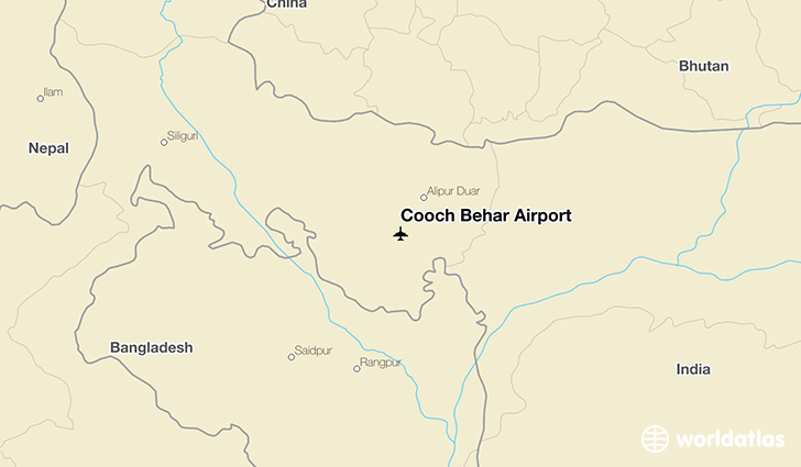 Cooch Behar Airport location on a map