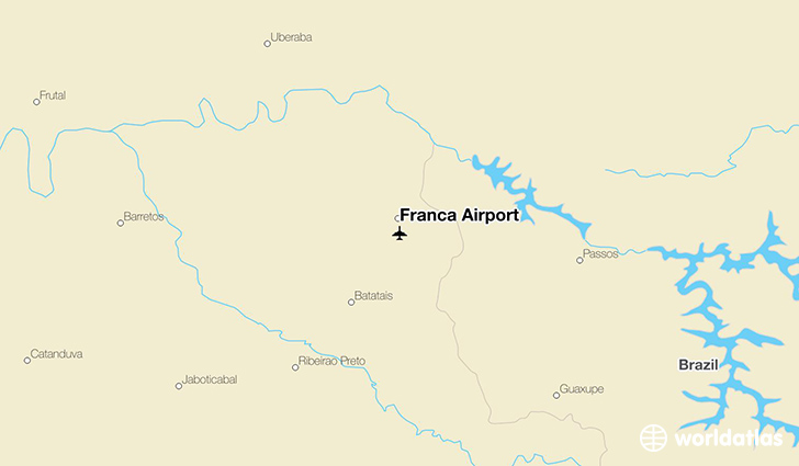 Franca Airport location on a map