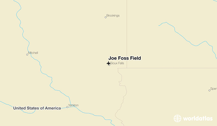 Joe Foss Field location on a map