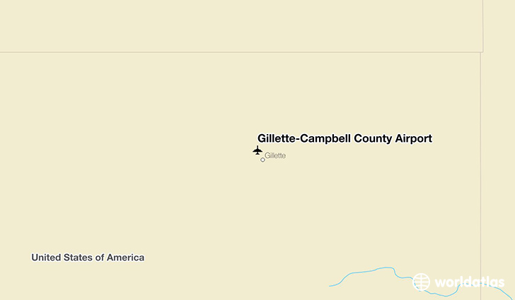 Gillette-Campbell County Airport location on a map