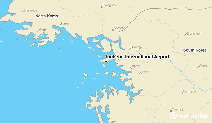 Incheon Islands Map