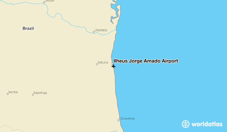 Ilhéus Jorge Amado Airport location on a map