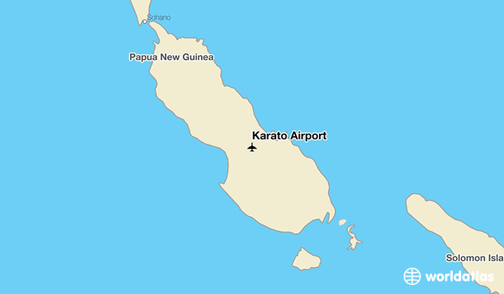 Karato Airport location on a map