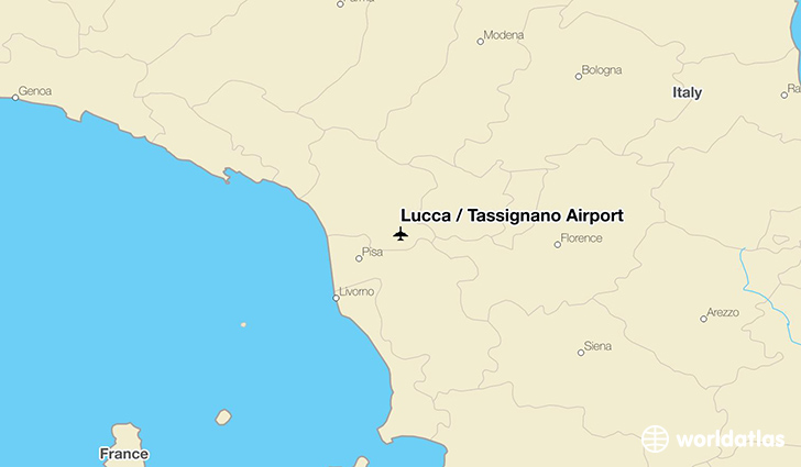 Lucca / Tassignano Airport location on a map