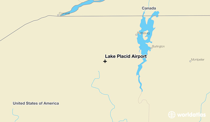 Lake Placid Airport location on a map