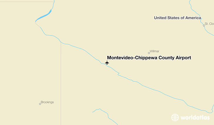 Montevideo-Chippewa County Airport location on a map