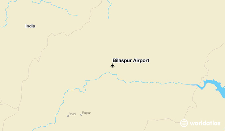 Bilaspur Airport location on a map