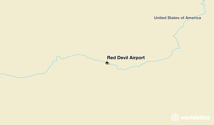 Red Devil Airport location on a map