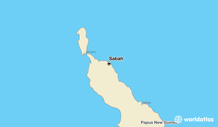Sabah location on a map