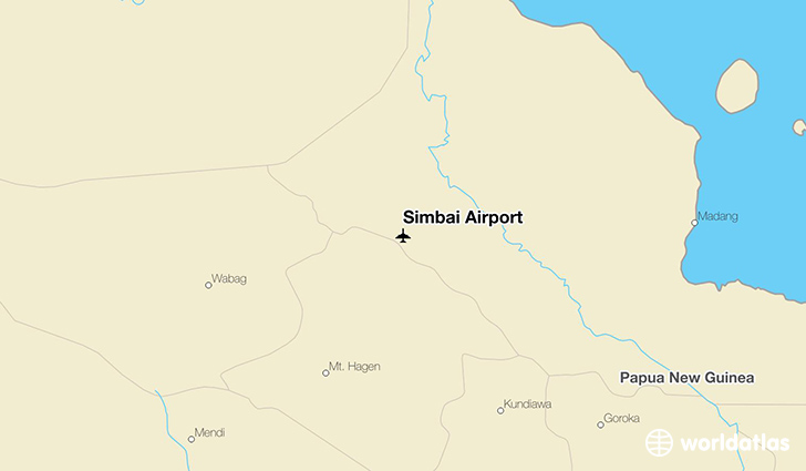 Simbai Airport location on a map