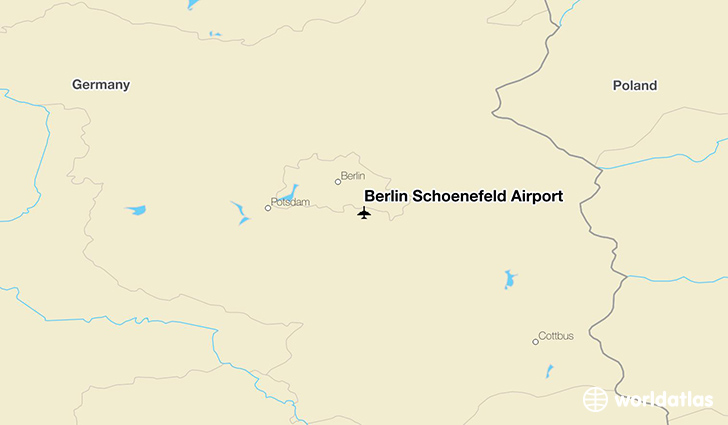 Berlin Schönefeld Airport location on a map