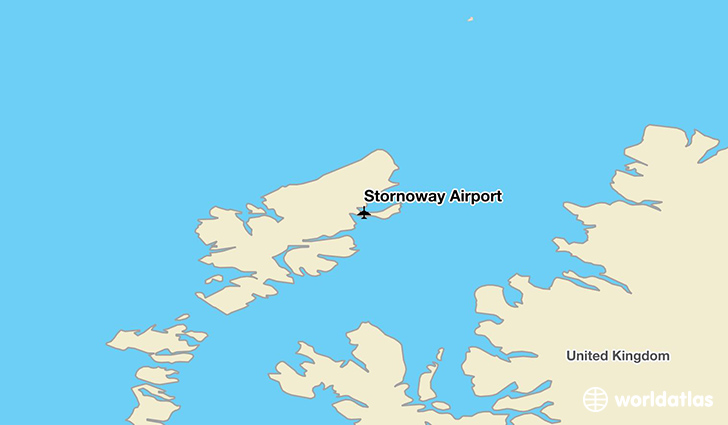Stornoway Airport location on a map