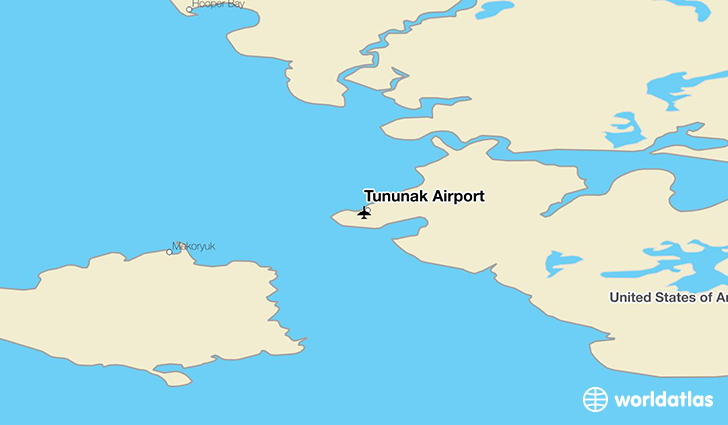 Tununak Airport location on a map