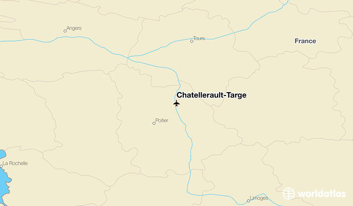 Chatellerault-Targé location on a map