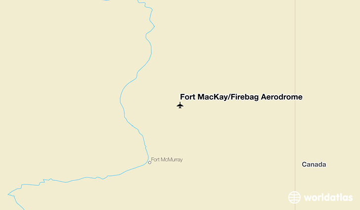 Fort MacKay/Firebag Aerodrome location on a map