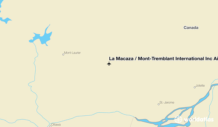 La Macaza / Mont-Tremblant International Inc Airport location on a map
