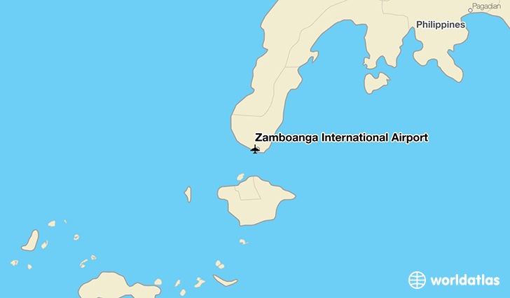 Zamboanga International Airport location on a map
