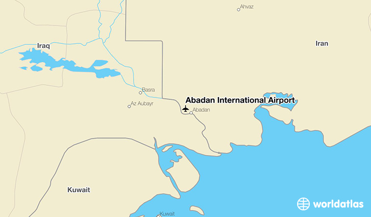 Abadan International Airport location on a map