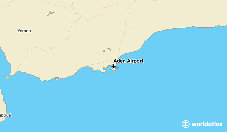 Aden Airport location on a map