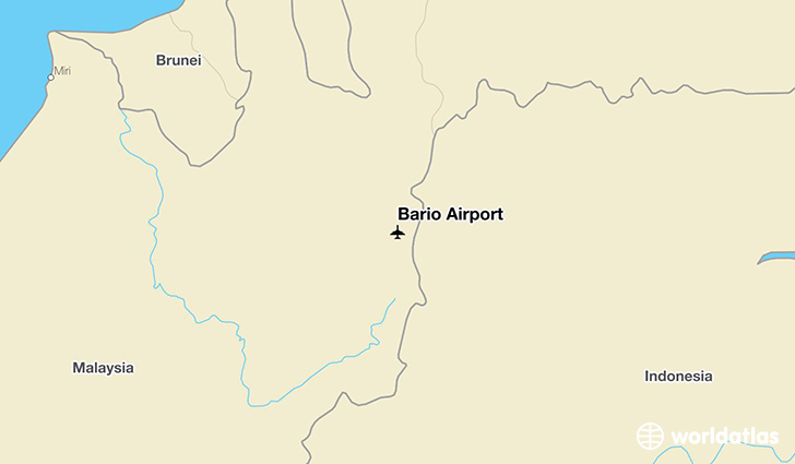Bario Airport location on a map