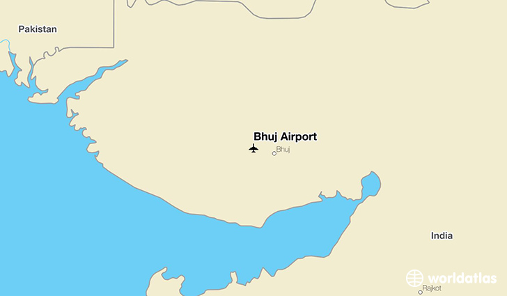 Bhuj Airport location on a map