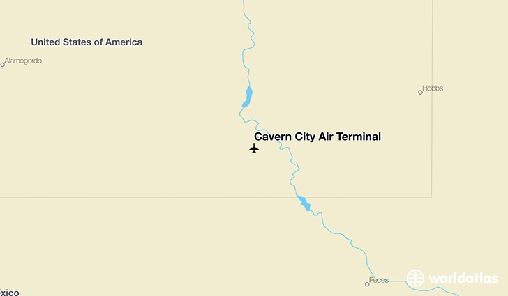 Cavern City Air Terminal location on a map