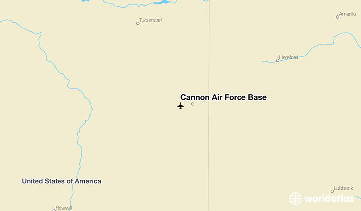 Cannon Air Force Base location on a map