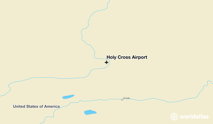 Holy Cross Airport location on a map