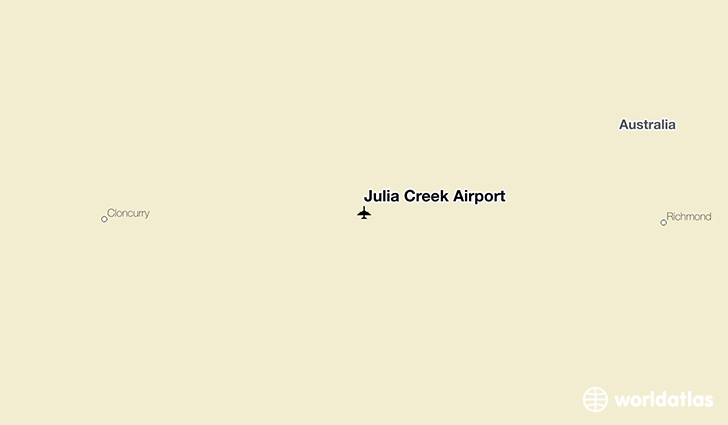 Julia Creek Airport location on a map