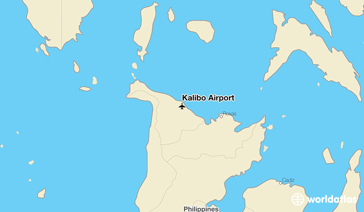 Kalibo Airport location on a map