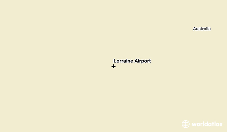Lorraine Airport location on a map