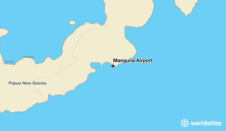 Manguna Airport location on a map